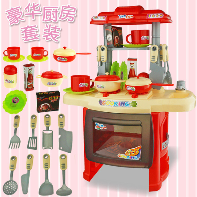 New Children Kitchen Toys For Children Cooking Toys Kids Pretend Play Sets Toys with Light Sound Effect Cosplay Kitchen Items