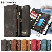 Caseme для iphone 6S плюс 5.5-дюймовый кожаная сумка старинные Разделение кожа мульти-слот бумажник чехол для Iphone 6S plus/6 S Plus