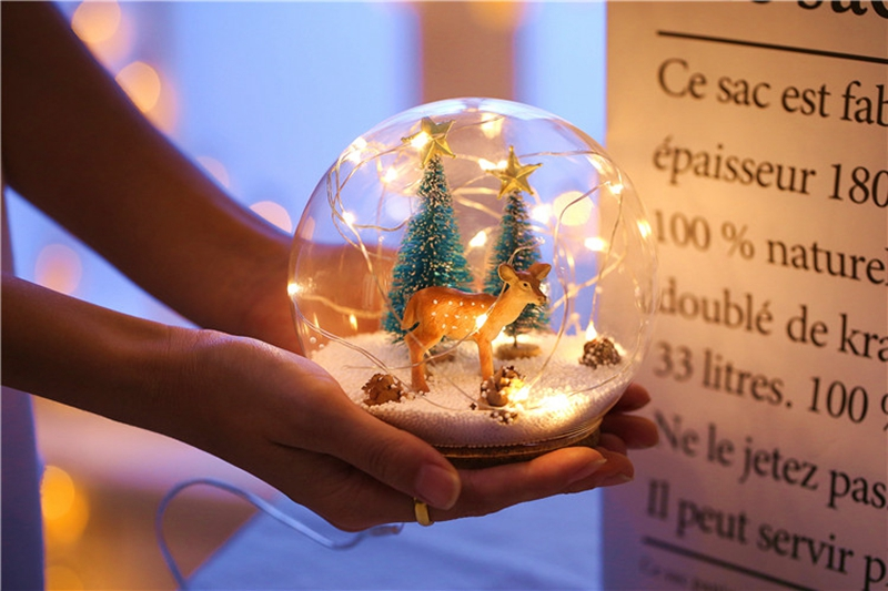 Creative LED Crystal Ball Design Table Lamp Room Decor Bedside Night Light For Girls Baby New Year Christmas Birthday Gift (21)