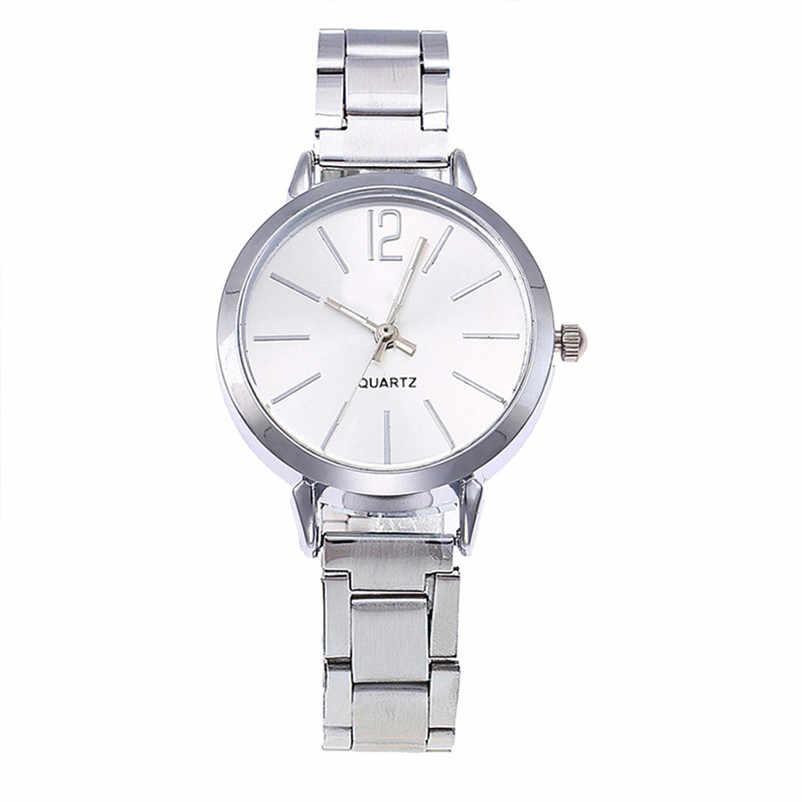 Часы Женское платье браслет из нержавеющей стали аналоговые кварцевые наручные часы модные роскошные женские часы из розового золота золотые часы reloj mujer M5