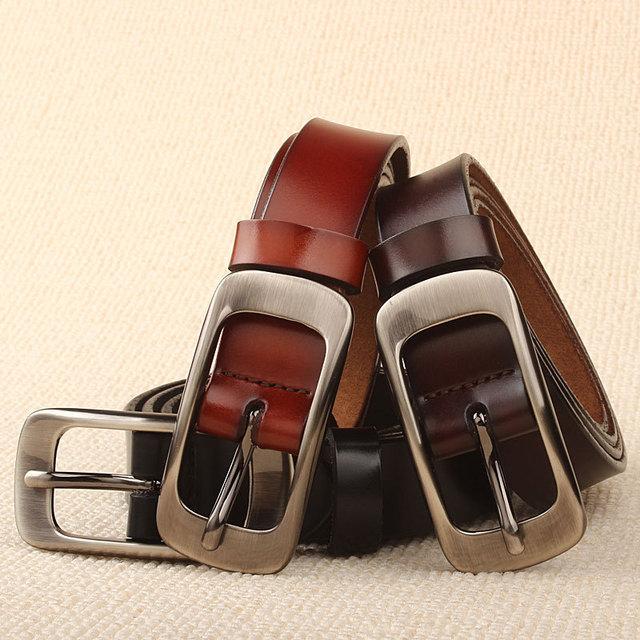 2016 Correas de La Manera Para Las Mujeres Mujer Pin Hebilla de Cinturón Cinturones de Cuero Genuino de Alta Calidad Cinto Feminino