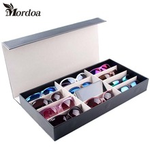 Mordoa New Style 12 Grids Glasses Necklaces Jewelry Rack Display Storage Organizer Boxes Show Case 3d Glasses Display Rack/Shelf
