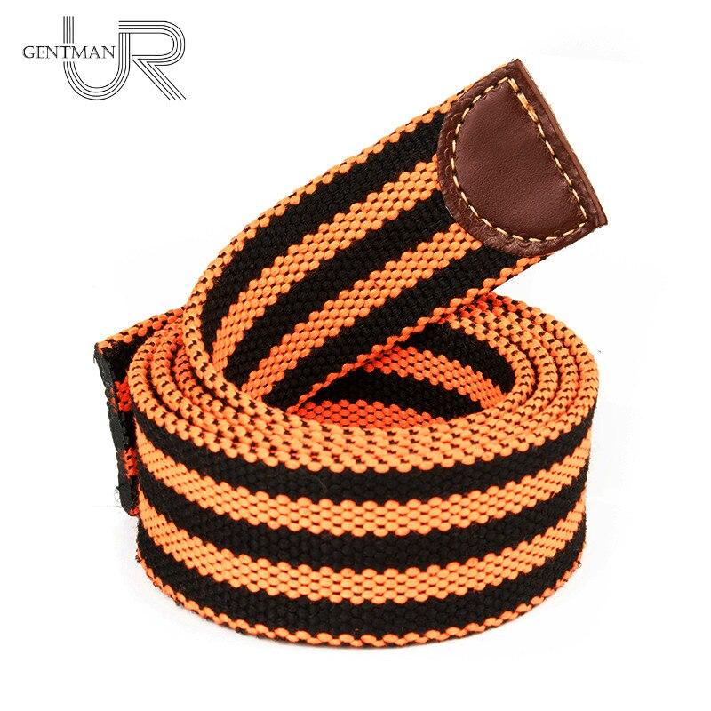 St. George   Belt   Without Buckle Canvas Straps Victory Colors   Belt   Orange And Black Stripes Strap