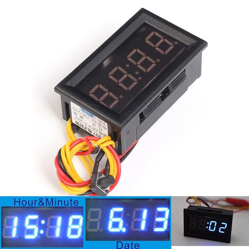 Multifunctional Vehicle modification schedule Digital clock meter Luminous stopwatch Timer Electronic DIY Kit LED Display Timer