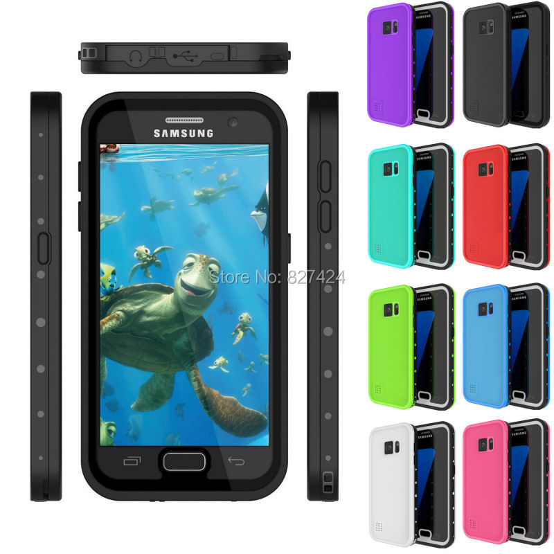 imágenes para Caja estanca [FingerPrint IDENTIFICACIÓN Compatible] Delgado de Cuerpo Completo de Protección Para Samsung Galaxy S7