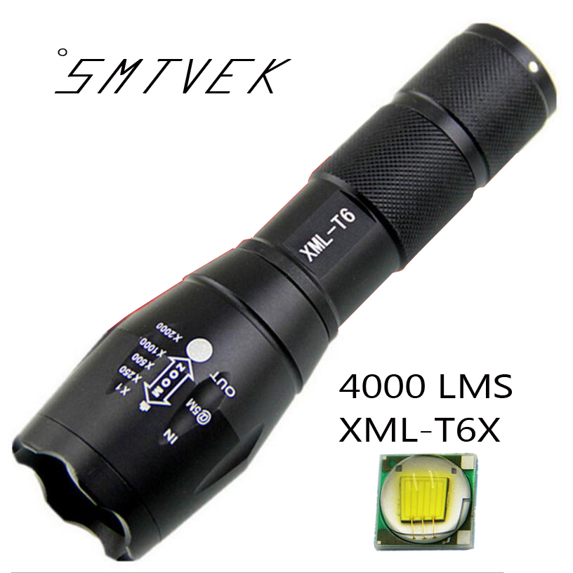 E17 LED XML Cree T6X Flashlight Waterproof Zoomable 5 Models Torch Aluminium Alloy LED Flashlight For 18650 or AAA Batteries sitemap 17 xml