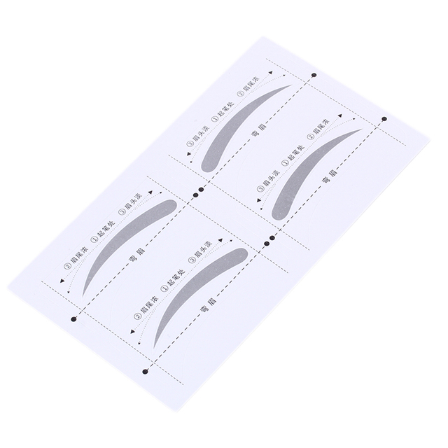 8 Pairs DIY Make Up Tools Grooming Shaping Bend Eyebrow Template Stickers 2