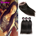 Brazilian Straight Virgin Hair With Frontal Closure 3 Bundles Straight Hair With Closure 360 Lace Frontal Closure With Bundles