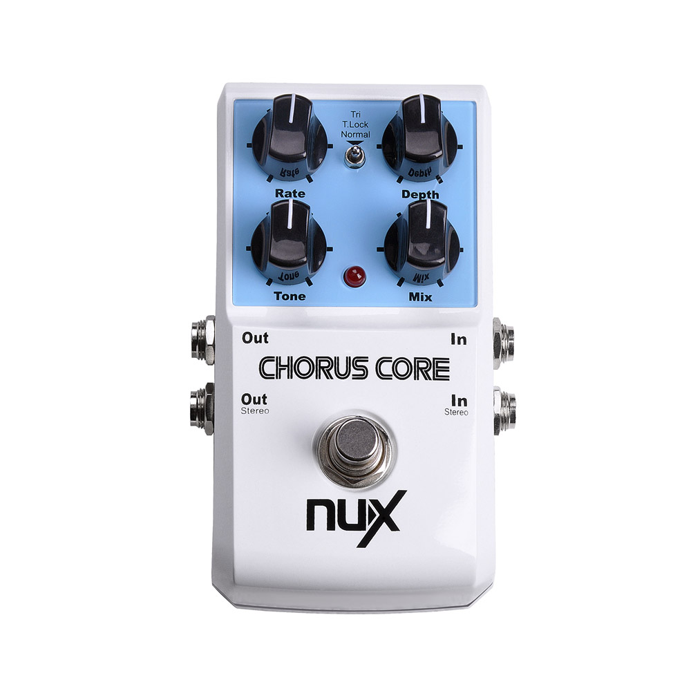 NUX Chorus Core Guitar Pedal Tri chorus Stomp Boxes Effect Pedal True Bypass Tone Lock Function Musical Instrument nux amp force guitar effect pedal stomp boxes dsp modeling amp cabinet simulator 9 user presets true bypass