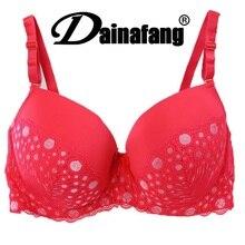 38/85 40/90 42/95 44/100 DE cup big size push up bra,cotton dot sexy underwear bras for women,fashion lingerie brassiere