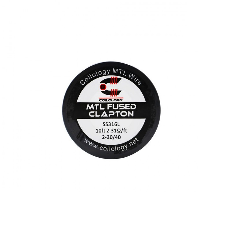Coilology MTL Staple Coil 316SS 1.9ohm/ 2.31ohm/ NI80 heating wire 3.06ohm 10 feet for DIY vape accessory RDA RTA Atomizer