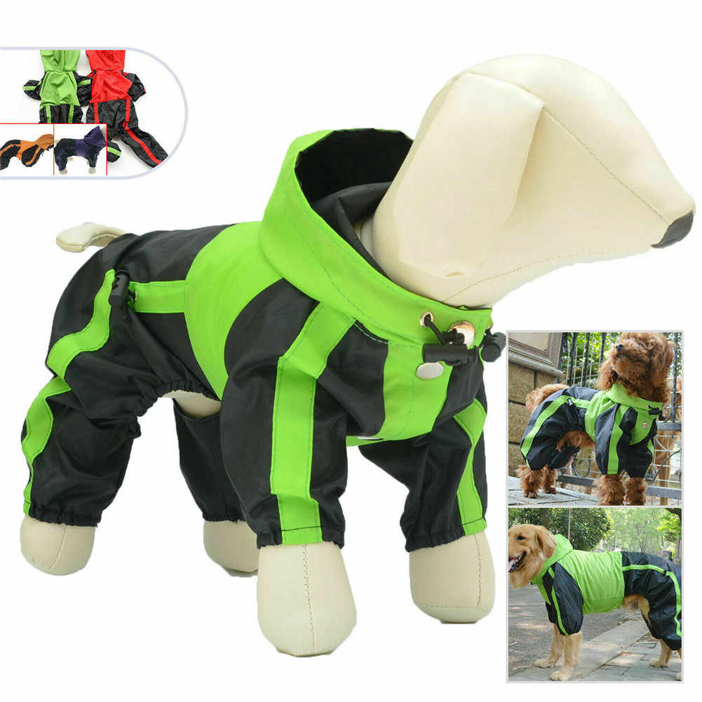 Waterproof Dog Raincoat Clothes Outdoor Rain Coat Jacket Coat multiple colour Snow Dog Rain Clothes H99F