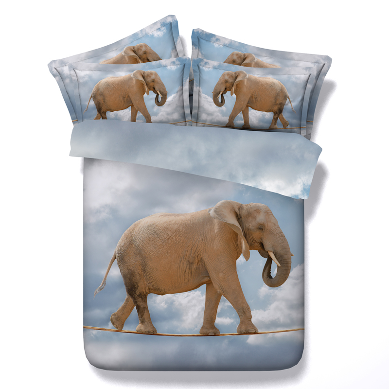 Elephant Animal 3D Printed Comforter Bedding Twin Full Queen Super Cal King Size Bed Sheets Duvet Covers Sets Adults Home Decor