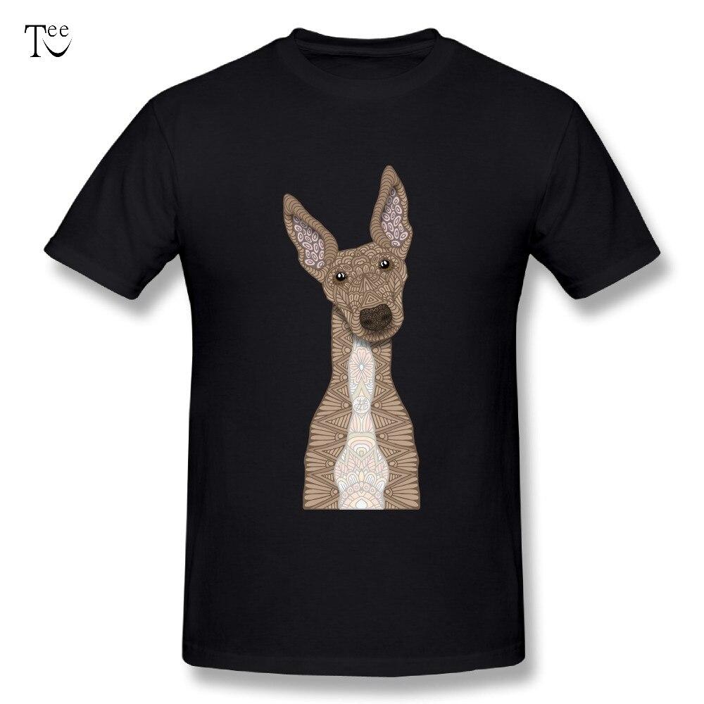 O-neck Mens Cute Fawn & White Greyhound T-Shirt Brand T Shirt Cartoon Tee 3D Print T shirt Fashionable