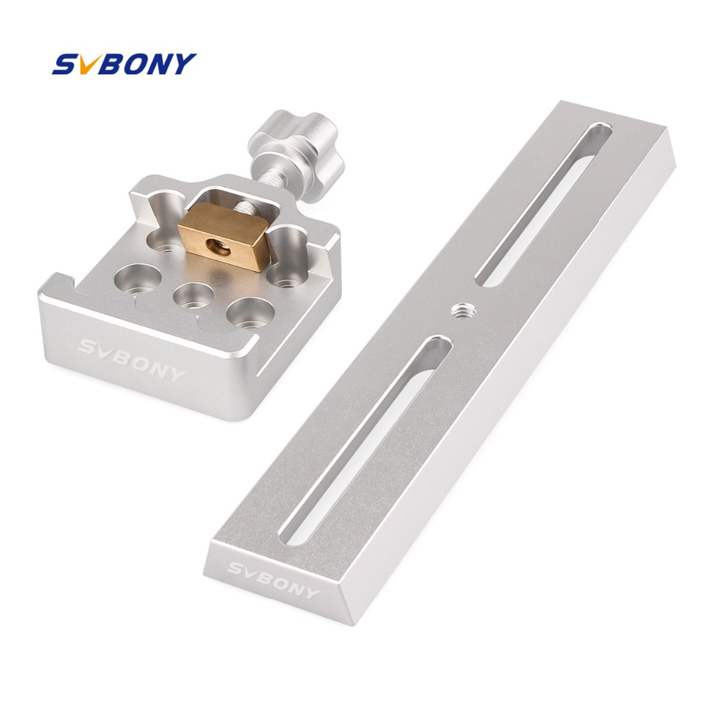 SVBONY 210mm Dovetail Mounting Plate Middle Size Dovetail Clamp for Astronomy Hunting Telescope Monocular F9144