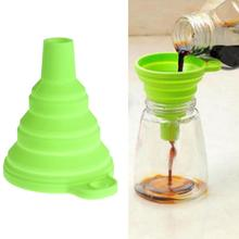 Protable Mini Silicone Foldable Funnels Collapsible Style Funnel Hopper Kitchen Cozinha Cooking Tools Accessories Gadgets