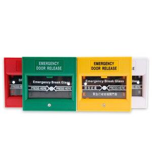 Image 3 - Quebre o vidro da porta de emergência interruptor de botão de saída liberação urgente botão firme interruptor de alarme para o Sistema de Segurança de Bloqueio vermelho/verde