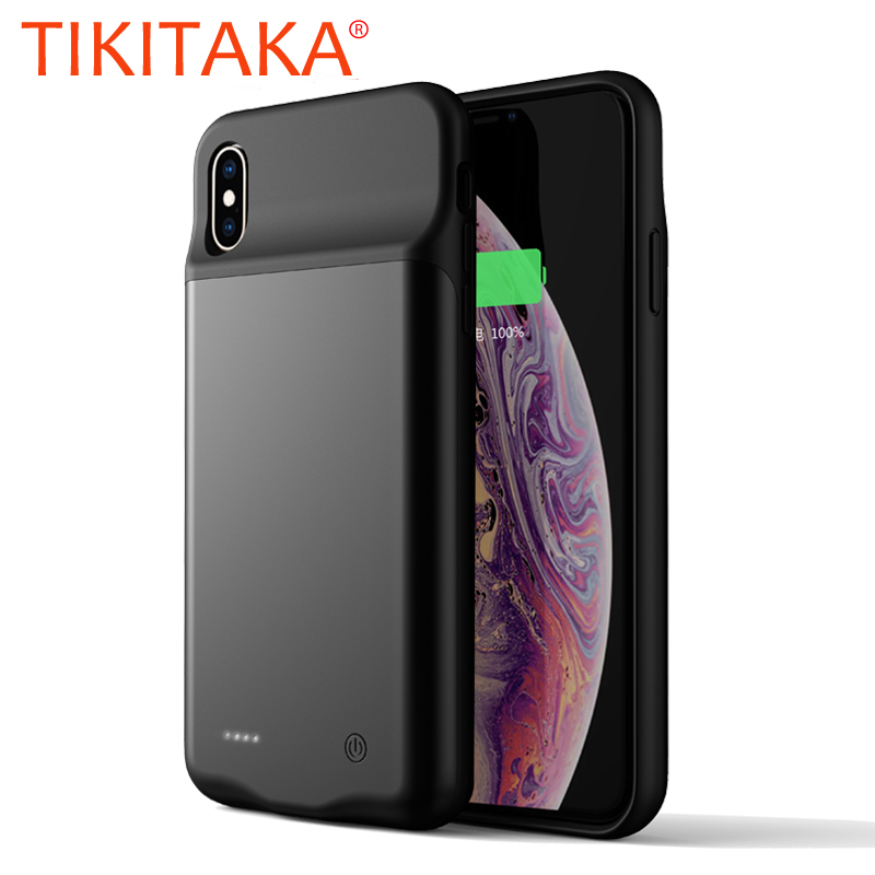 Беспроводной батарея зарядное устройство чехол для iPhone XS Max телефонные чехлы для Apple iPhone X XR Xs Max зарядный чехол батарея запасные аккумулятор...