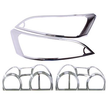 high quality ABS Chrome Front headlight Lamp Cover trim Rear headlight Lamp Cover trim for Nissan NV200 2010-2016 Car styling