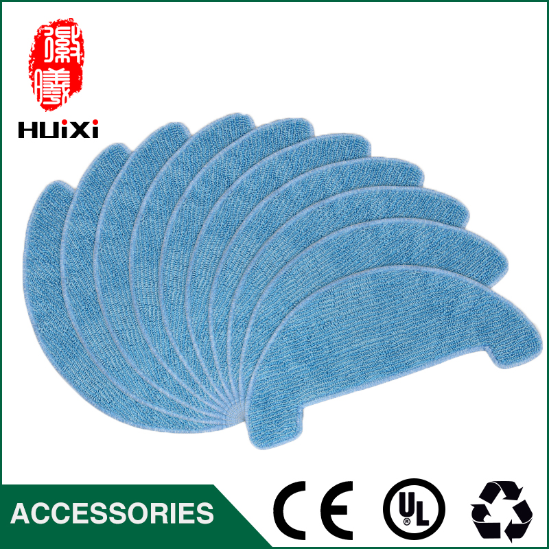 10pcs Dishrag Dishcloth Mop Cloth High-efficiency for Vacuum Cleaner Parts for CEN663 12pcs lot high quality robot vacuum cleaner wet mop hobot168 188 window clean mop cloth weeper vacuum cleaner parts