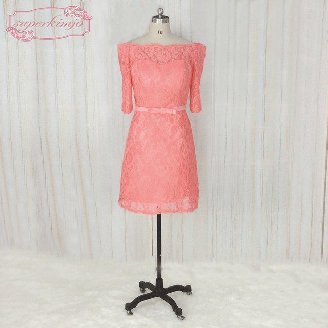 Tienda Online Superkimjo vestidos de madrinha hombro color coral ...