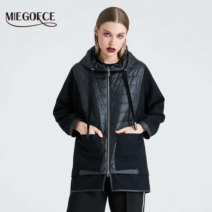 MIEGOFCE 2019 primavera otoño chaqueta de mujer abrigo de alta calidad abrigo de mujer con capucha chaqueta acolchada a prueba de viento nueva colección-in Parkas from Ropa de mujer    1