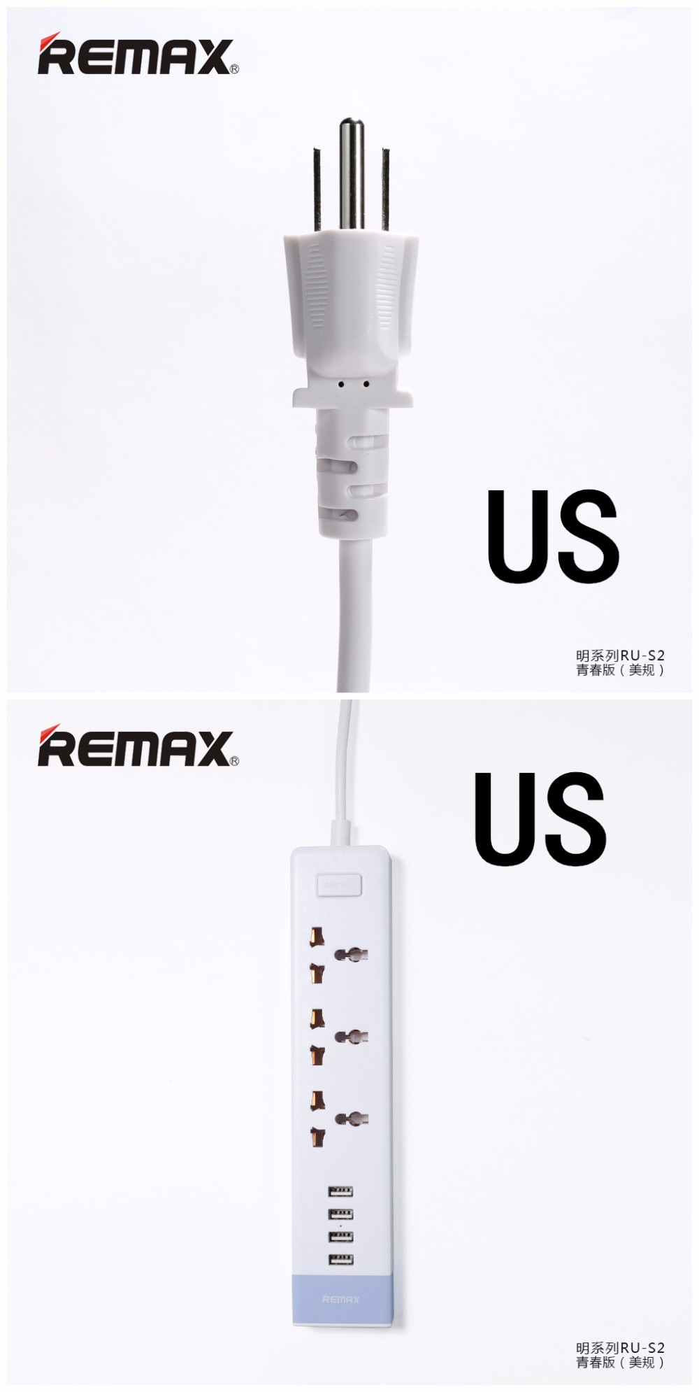 Remax 4usb Power Outlet Strip Desktop Adapter Electrical Plug Eu Uk Original Ming Series 3 Plus Socket Ru S2 Style Modern New Product Multi Functions For Space Saving