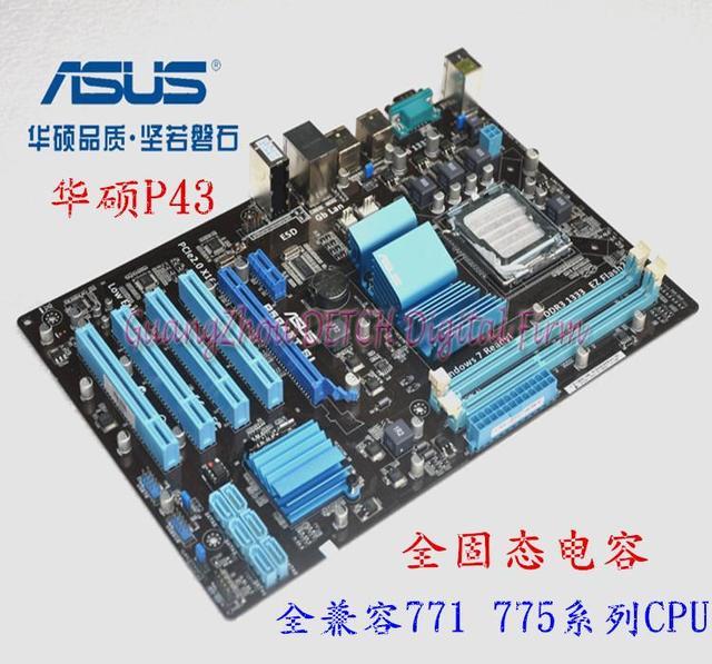 P5P43T SI LGA 775 DDR3 16 ГБ P43 рабочего материнская плата Mainboard Все твердые материнская плата рабочего
