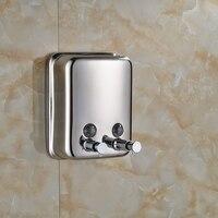 1500ml Wall Mount Soap Sanitizer Bathroom Shower Shampoo Dispenser Chrome Finished