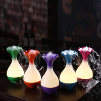 Home Office Flower Bottle USB Air Humidifier Ultrasonic Aromatherapy Essential Oil Aroma Diffuser LED Mist Purifier