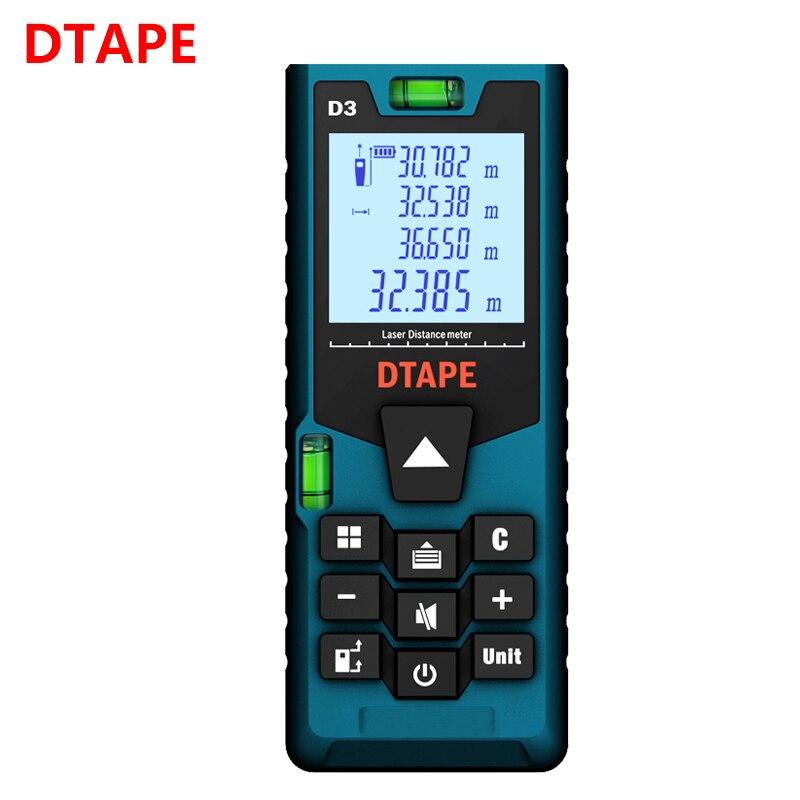 DTAPE laser-distanzmessgerät 40 M 50 M 60 M 80 M 100 M 120 M entfernungsmesser laser band palette finder bauen messen gerät herrscher test werkzeuge
