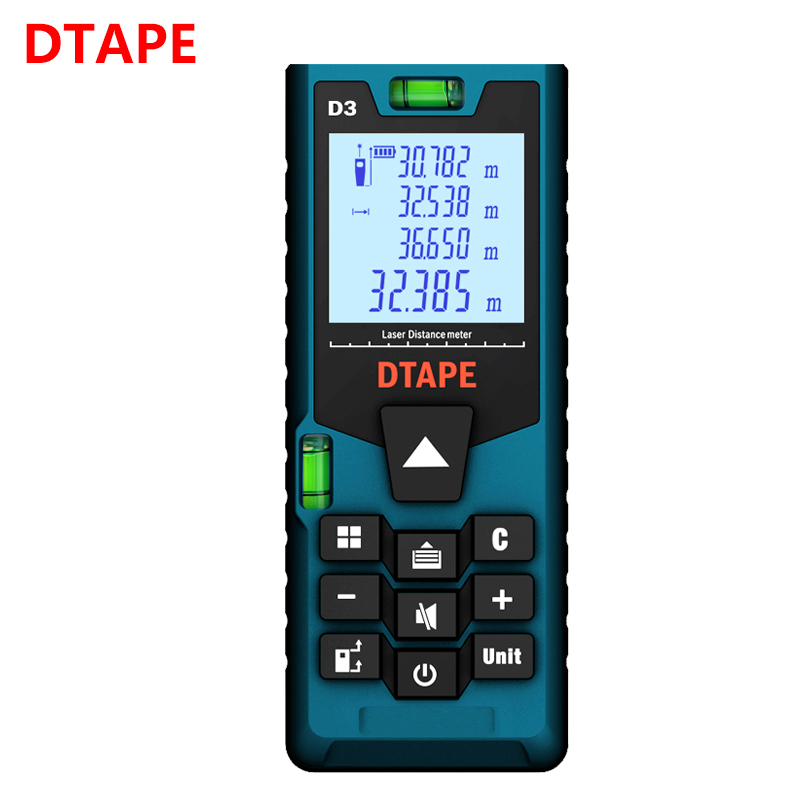 Dtape medidor de distância a laser 40 m 60 m 80 m 100 m 120 m rangefinder laser range finder construir medida dispositivo régua teste ferramentas