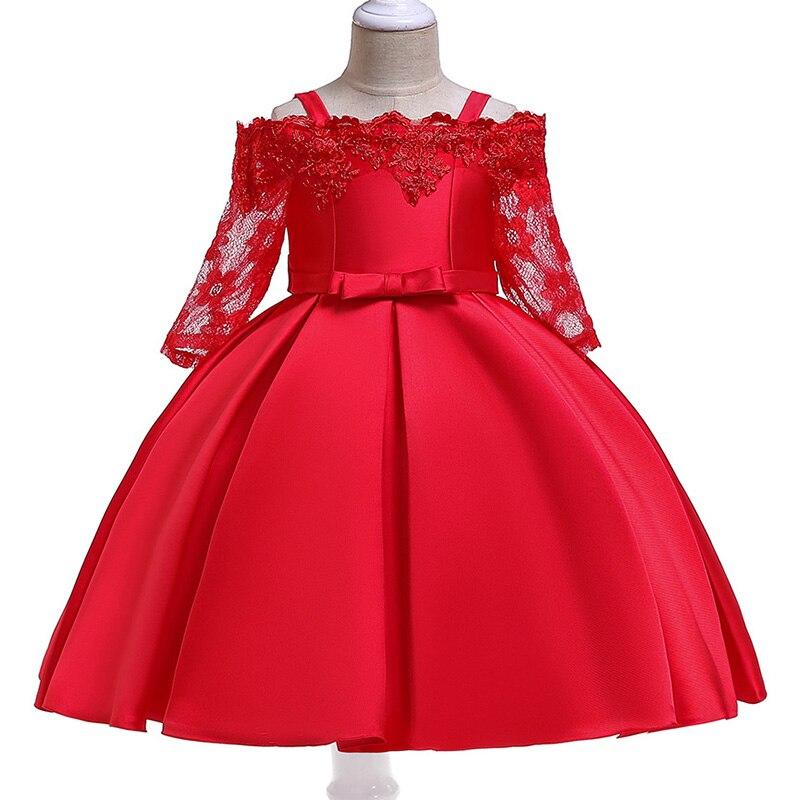 Girl Communion Dress Children's Party Dress First Communion Dresses For Kids Child Fluffy Dress 3 -10 Year Baby Costume L5083