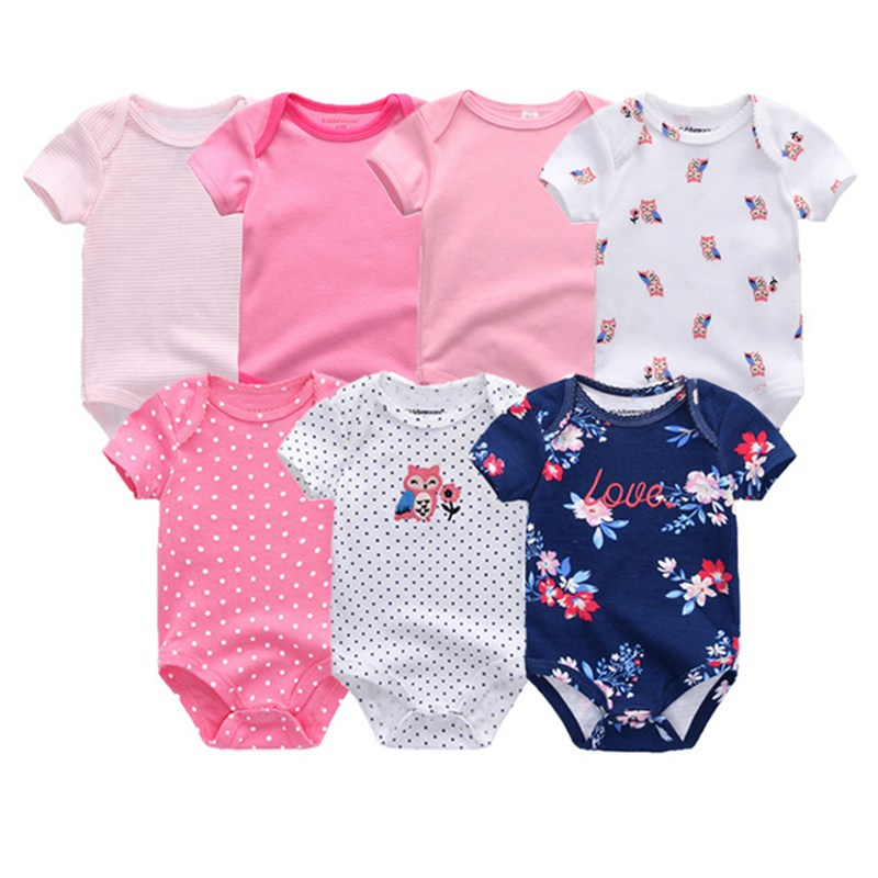 HTB1N8wigpmWBuNjSspdq6zugXXaN Top Quality 7PCS/LOT Baby Boys Girls Clothes 2019 Fashion Roupas de bebe Clothing Newborn rompers Overall baby girl jumpsuit