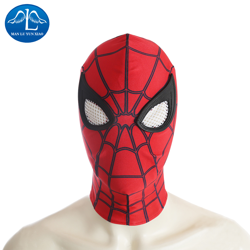 MANLUYUNXIAO Spiderman Mask Superhero Cosplay Costume Prop Halloween Full Head Party Masks Halloween Mask For Men