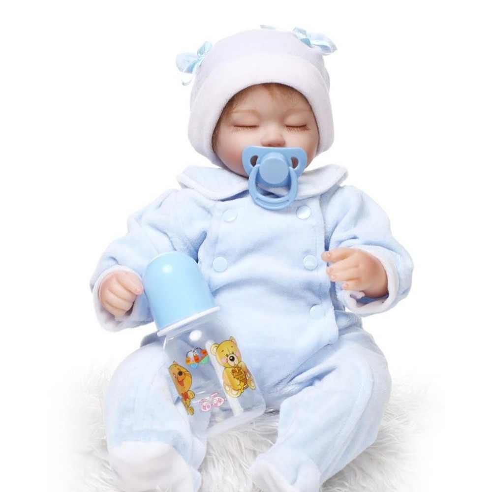 42 см Силиконовые спящие Младенцы Reborn куклы реалистичные мягкие живые Reborn Детские куклы игрушки Новорожденные Детские куклы для детей подарок на день рождения