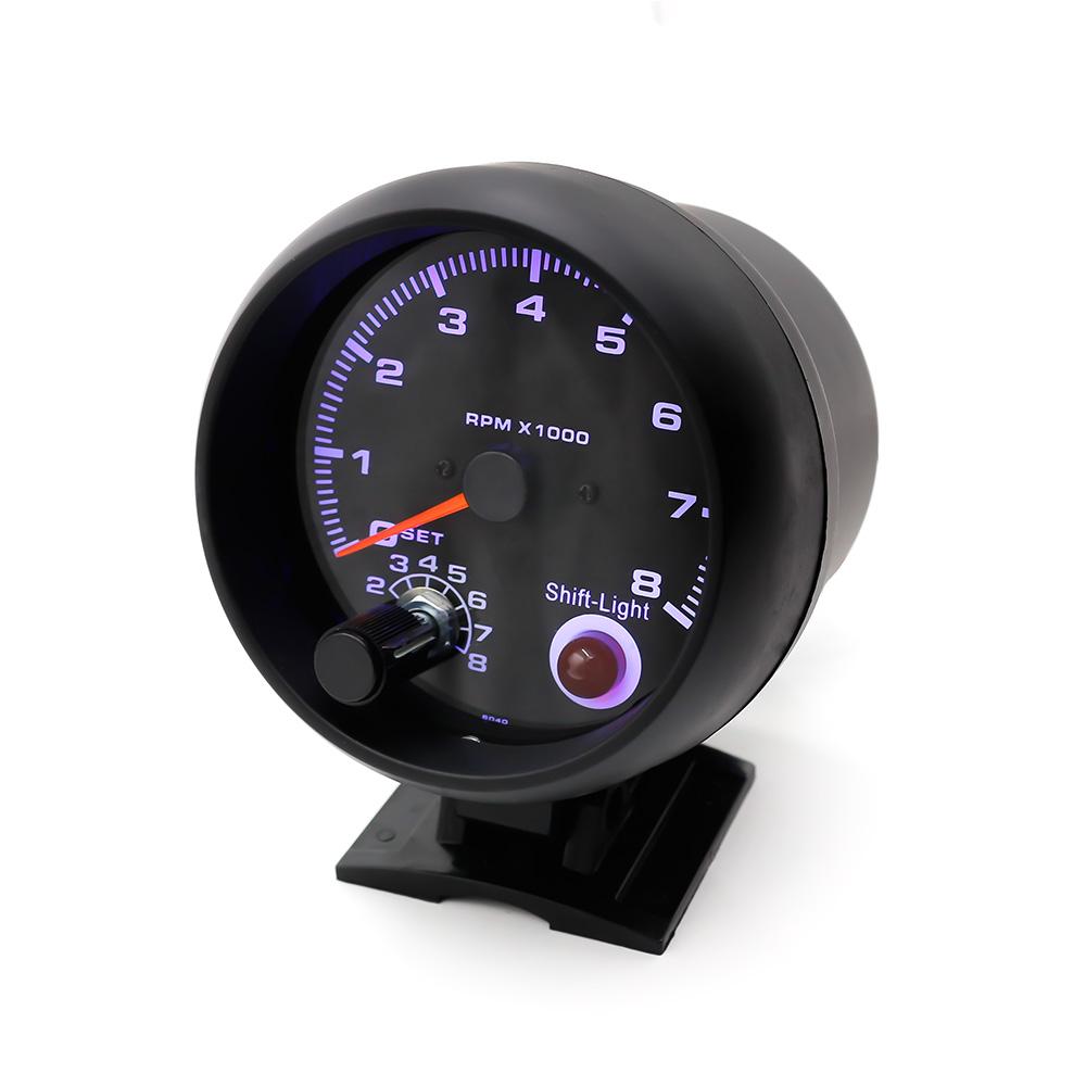 """Prix pour Livraison gratuite Compte-Tours 3 3/4 """"Noir couleur 0-8000 rpm jauge avec inter léger décalage/Auto gauge/tachymètre/compteur De Voiture/Racing compteur"""