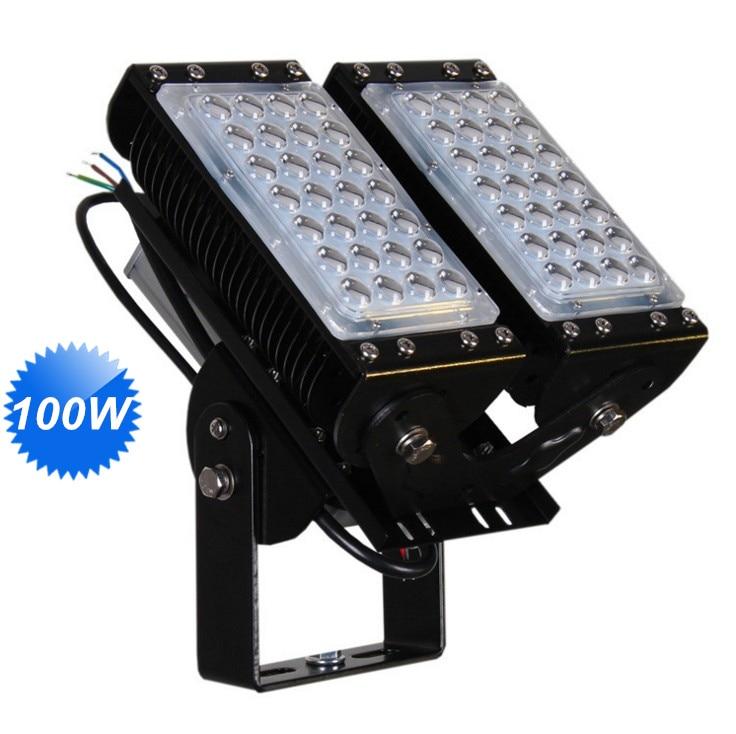 100W Led Floodlights 65 125 degree adjustalble led tunnel light ac85-277v outdoor Ip65 waterproof lighting fixture