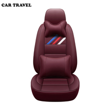 Genuine Leather auto custom car seat cover For peugeot 206 407 508 308 301 3008 2017 205 106 307 207 2008 4008 5008 seats