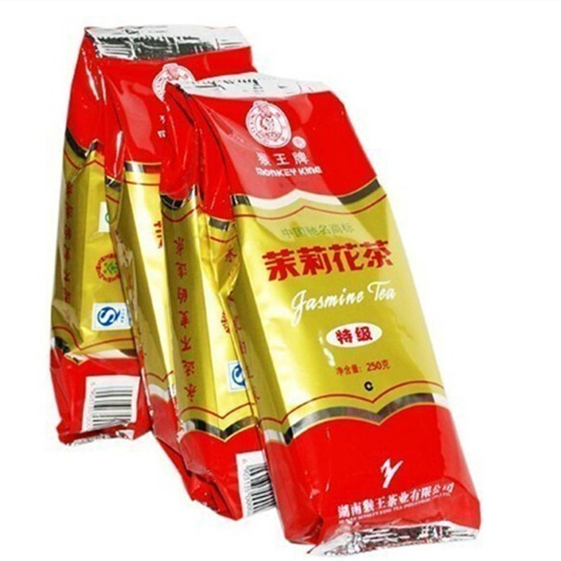 100g Monkey King Jasmine tea, flower tea, Hunan scented tea, Chinese grestest Famous brand tea lose Weight healthy green food