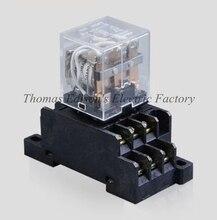 LY3N Mini power relay relay HH63P DMWD AC 220 V relé de propósito general con Base de Enchufe de 11 Pines