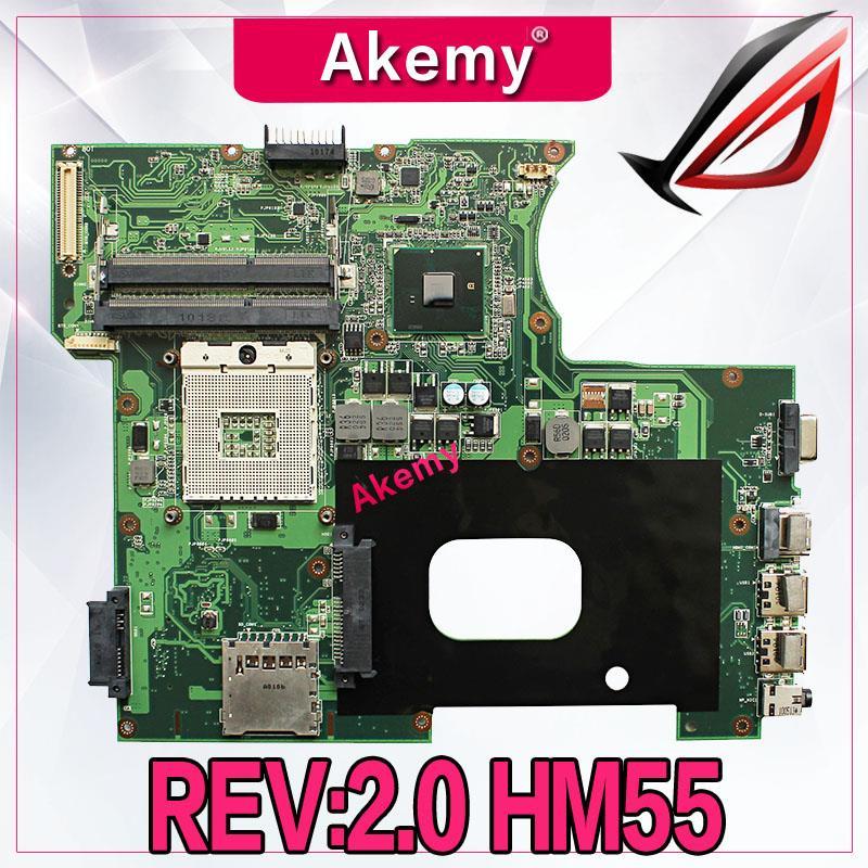 Akemy REV 2 0 HM55 rPGA 989 USB2 0 DDR3 For ASUS A42F P42F K42F motherboard