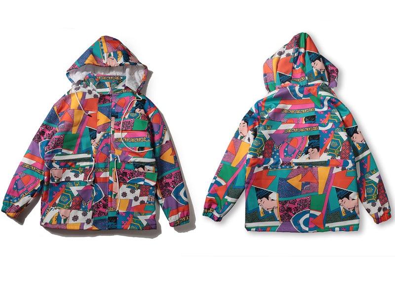 Japanese Ukiyo E Style Color Block Patchwork Jacket 3