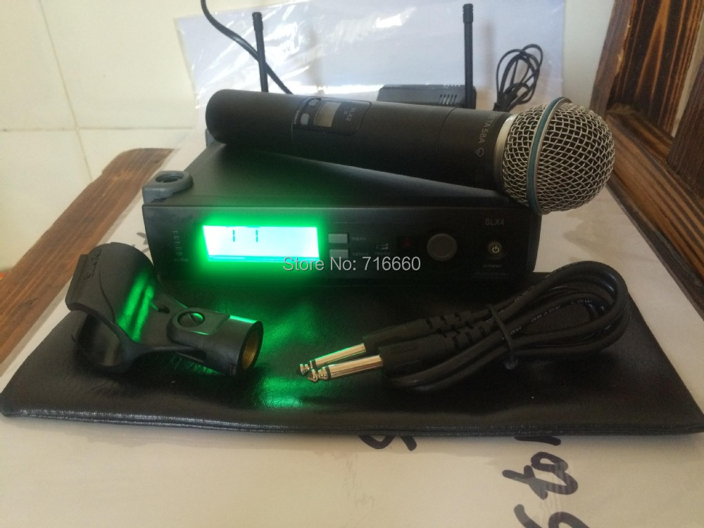 High Quality SLX24 / Beta58 Professional UHF Wireless Microphone, SLX24 Handheld Beta58 Microphone