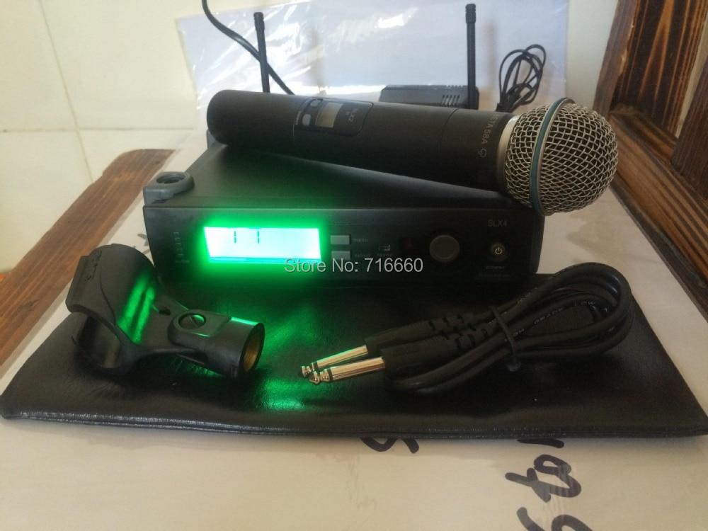 Microphone sans fil professionnel haute qualité SLX24/beta58, microphone portable SLX24 beta58-in Microphones from Electronique    1
