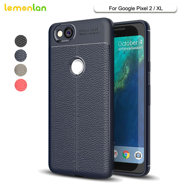 timeless design 07ae3 a8c58 Lemonlan Phone Case For Pixel 2 Luxury Litchi Grain Soft TPU Silicone Cover  Case For Google Pixel 2 Pixel2 XL Capa-in Half-wrapped Case from ...