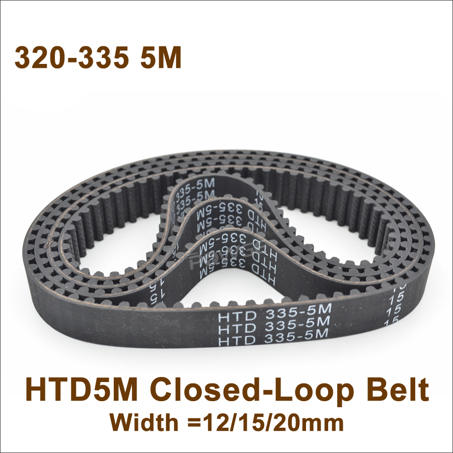 HTD5M 330//335 Synchronous Wheel Close Loop Timing Pulley Belt 20//25mm Width