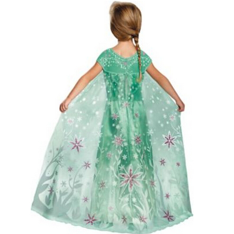 buy halloween costumes for kids girls green short sleeve long little girl party dresses from reliable costume for kids suppliers on