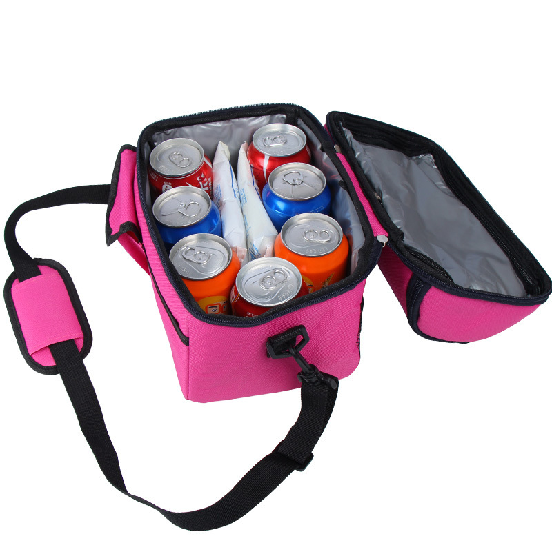 Image 4 - camping picnic bag Lunch bag meal basket portable insulation package double layer fresh keeping bag beer fridge portable coolers-in Picnic Bags from Sports & Entertainment