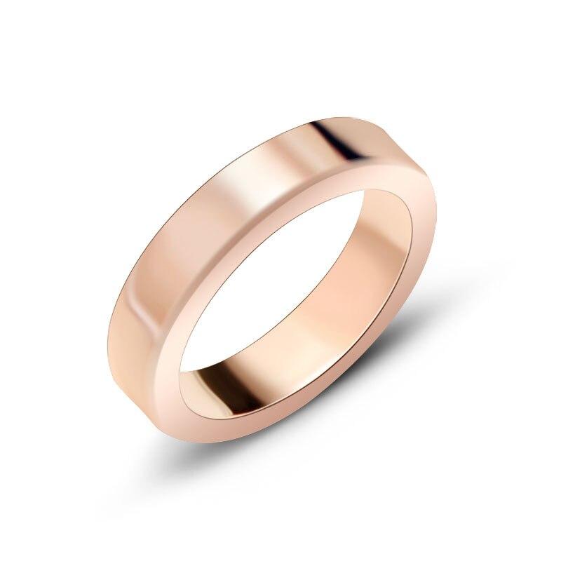 Linha Horizontal Parafuso Carter Anillos Amor Titanium Aço Anéis para Homens Mulheres Meninas Faixas De Casamento Anéis de Noivado o transporte Da Gota